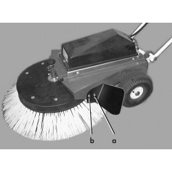 Déflecteur pour balayeuse radial