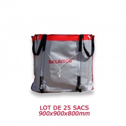 Sac à Gravat Big Bag Réutilisable Lot de 25 sacs (900x900x800)