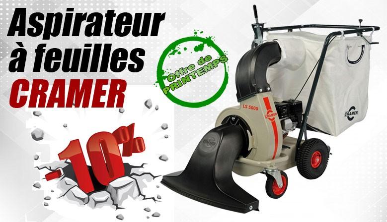 Aspirateur à feuilles et à déchets Cramer fabrication allemande matériel pro